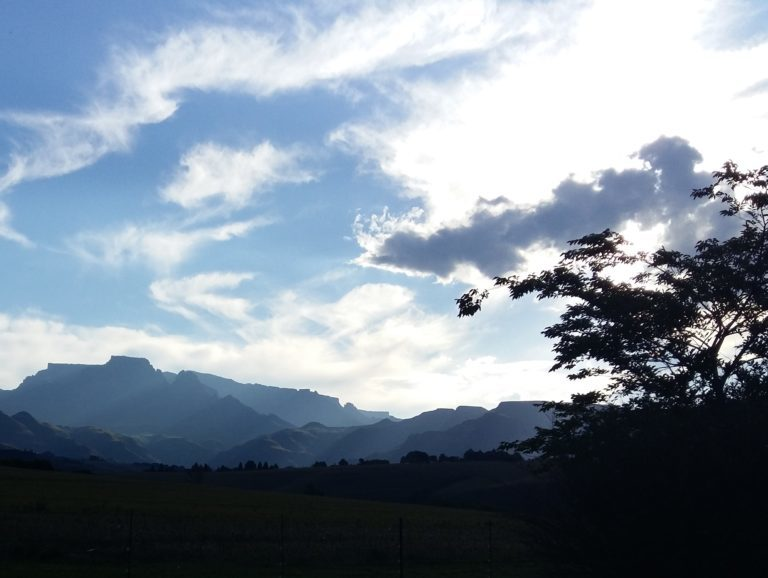 Late afternoon over Rolls Royce Mountain in the Drakensberg