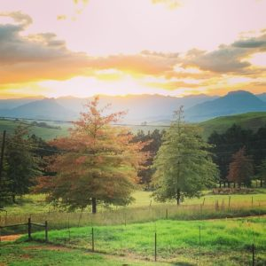 Photo of sunset over the Drakensberg Mountains