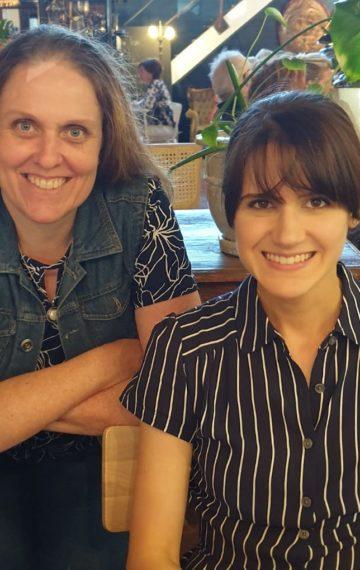 Author Meg Chronis and literary agent Whitney Ross